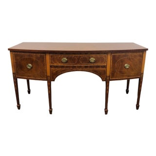 Baker Williamsburg Classical Inlay Hepplewhite Mahogany Sideboard 8930 For Sale