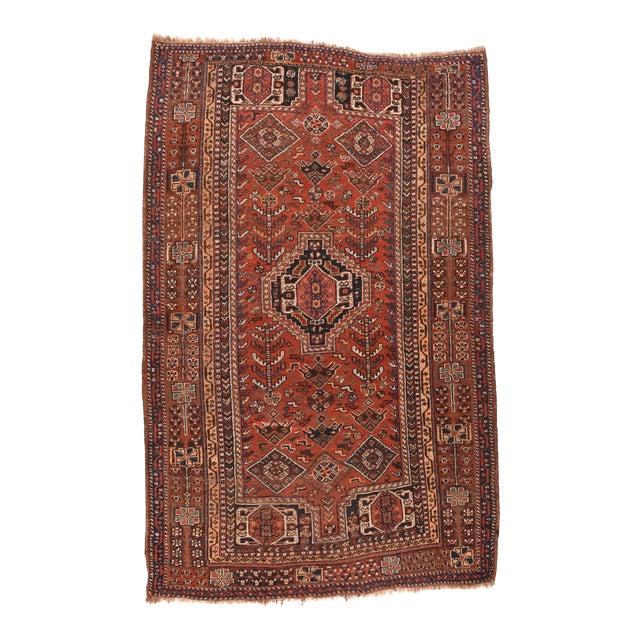 Antique Persian Shiraz Tribal Rug For Sale