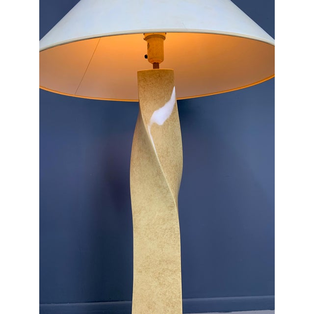 Mid-Century Modern Vintage Mid-Century Twisted Floor Lamp in the Style of Karl Springer For Sale - Image 3 of 8