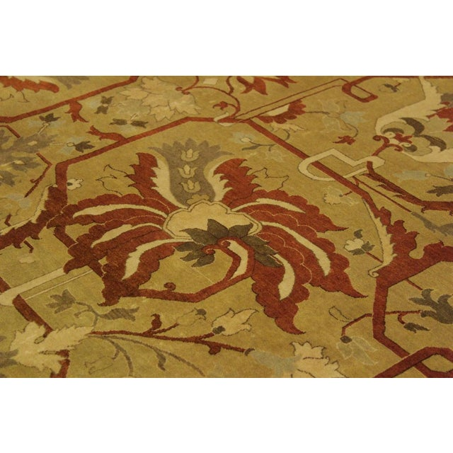 1950s 1950's Persian Karri Rust Hand-Knotted Rug -10'0 X 13'8 For Sale - Image 5 of 9