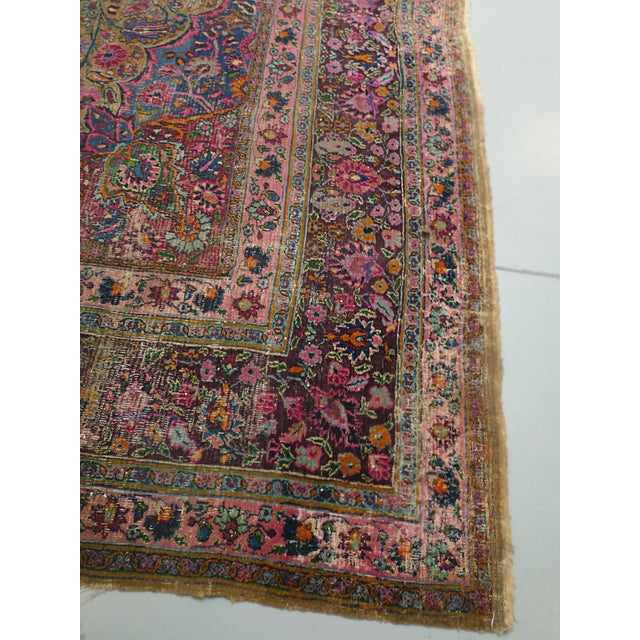 "1920s Handwoven Kerman Rug 13' 2"" X 10' 4"" For Sale In New York - Image 6 of 13"