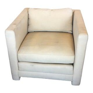 1980s Vintage Bloomingdales Swaim Originals Upholstered Chair For Sale
