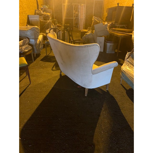 1940s Vintage Swedish Moderne Winged Back Sofa For Sale In Richmond - Image 6 of 12