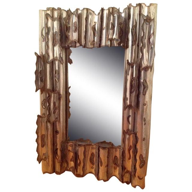 Tom Greene Vintage Brutalist Metal Wall Mirror - Image 1 of 9