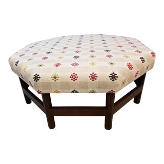 Folk Art Robert Kime Upholstered Coffee Table Ottoman For Sale
