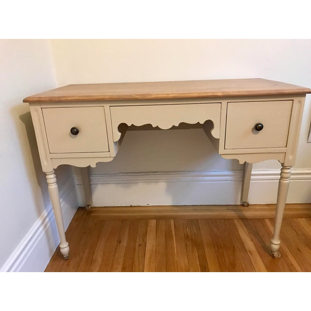 Vintage 3-Drawer Desk - Image 2 of 10