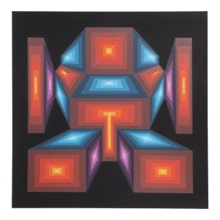 "1970s Roy Ahlgren, ""Ikon"", Op Art Screenprint For Sale"
