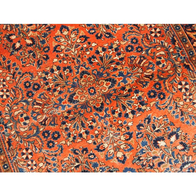 1920s 1920s, Handmade Antique Persian Sarouk Rug For Sale - Image 5 of 13