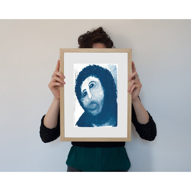 Contemporary Ecce Homo Spanish Jesus Meme Cyanotype Print For Sale - Image 3 of 4