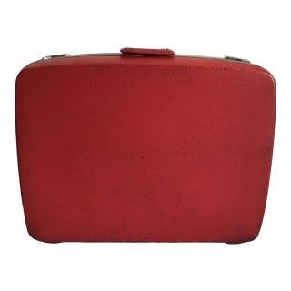 Vintage Red Royal Traveller Suitcase For Sale