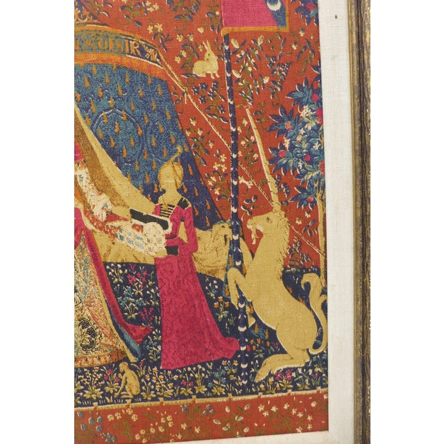 Red English Country Framed Tapestry - A Pair For Sale - Image 8 of 11