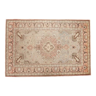"Vintage Distressed Kaisary Carpet - 6'7"" x 9'11"" For Sale"