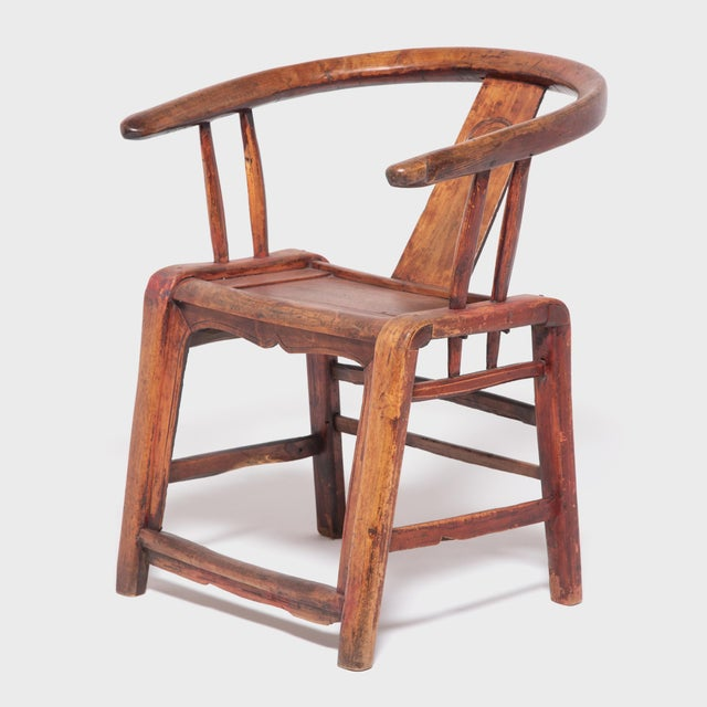 Asian 19th Century Chinese Bentwood Roundback Chair For Sale - Image 3 of 7