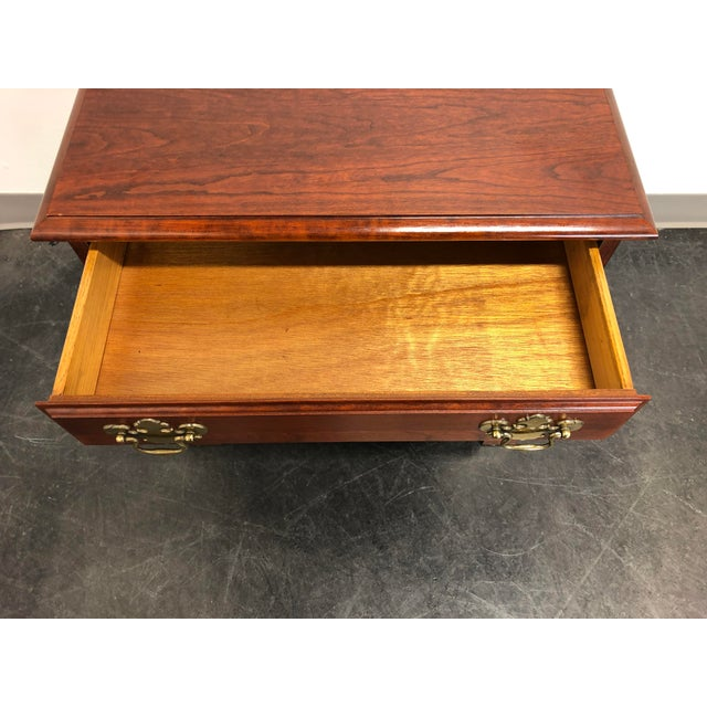 Chippendale Style Cherry Chairside Chest / Nightstand by Hooker For Sale - Image 9 of 11