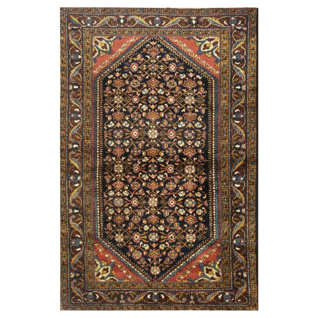 "Antique Persian Hamedan Rug - 4'6"" x 6'11"" For Sale"