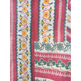 Antique Hand Stitched Kantha Quilt For Sale