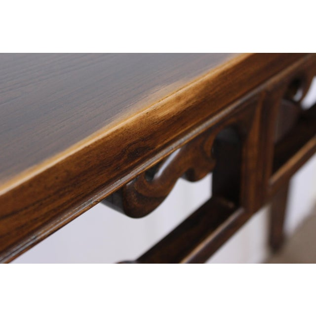 Elm Carved Console Table For Sale - Image 7 of 10