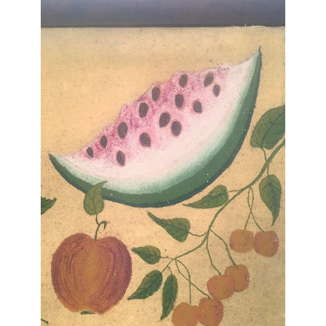 Canvas American Folk Art Fruit Still Life Painting, circa 1895 For Sale - Image 7 of 11