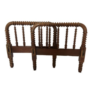 Antique Jenny Lind Style Spindle Child's Bed From Mendocino Coast Ca