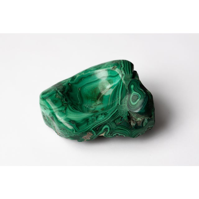 Malachite Natural Specimen Vide Poche Stone Paperweight For Sale In New York - Image 6 of 12