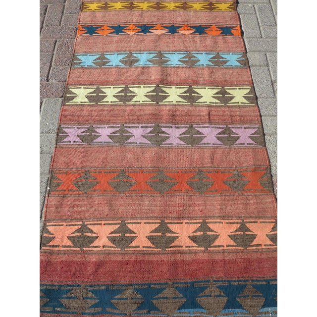 "Late 20th Century Vintage Anatolian Handmade Kilim Runner-3'x11'4"" For Sale - Image 5 of 13"