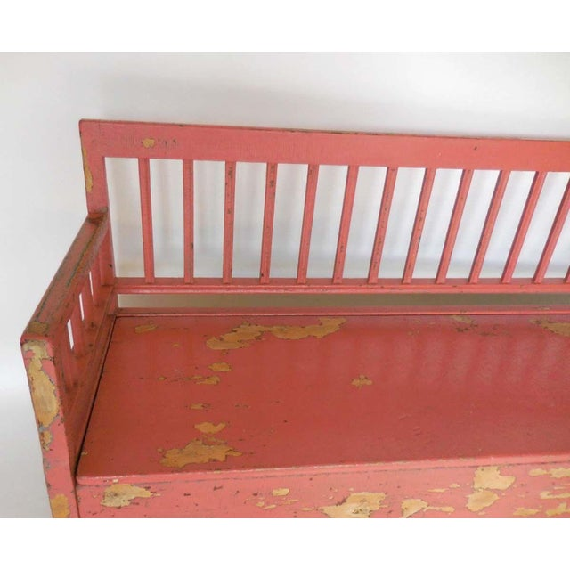 19th Century Painted Swedish Bench/Daybed - Image 7 of 9