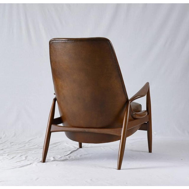 """Ib Kofod-Larsen High Back """"Seal"""" Chair For Sale In Los Angeles - Image 6 of 10"""