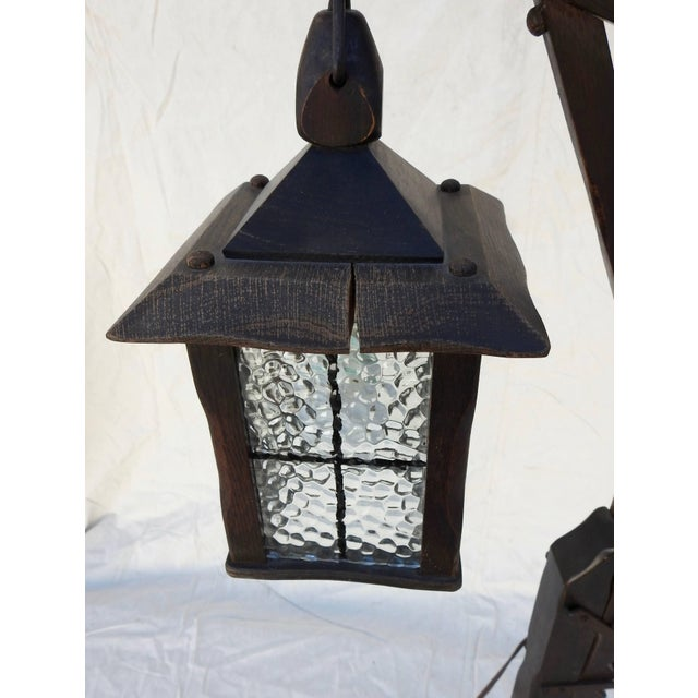 Mission Style Arts & Crafts Wooden Floor Lamp For Sale - Image 9 of 11