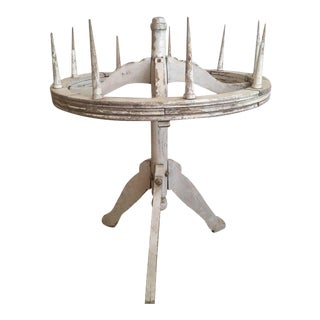 19th Century Painted Wood Round Candelabra For Sale