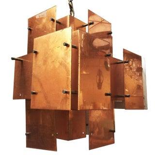 "Robert Sonneman Brutalist Style ""Cityscape"" Chandelier For Sale"