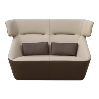 VIP Saloti Spencer V2 Leather 2-Seater Sofa For Sale