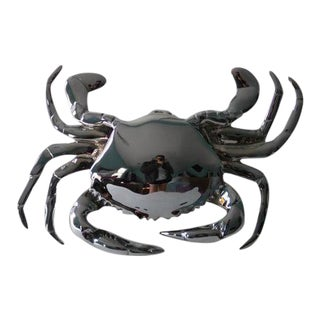 Chrome Crab Door Knocker For Sale
