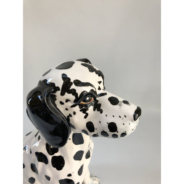 Contemporary Mid-Century Large Italian Dalmatian Dog Statue For Sale - Image 3 of 8