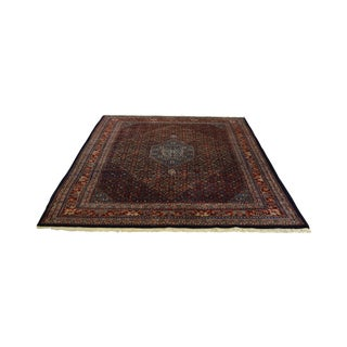 Farahan Sarook Blue Hand Knotted Persian Oriental Room Size Rug Carpet -- 9' x 11' For Sale