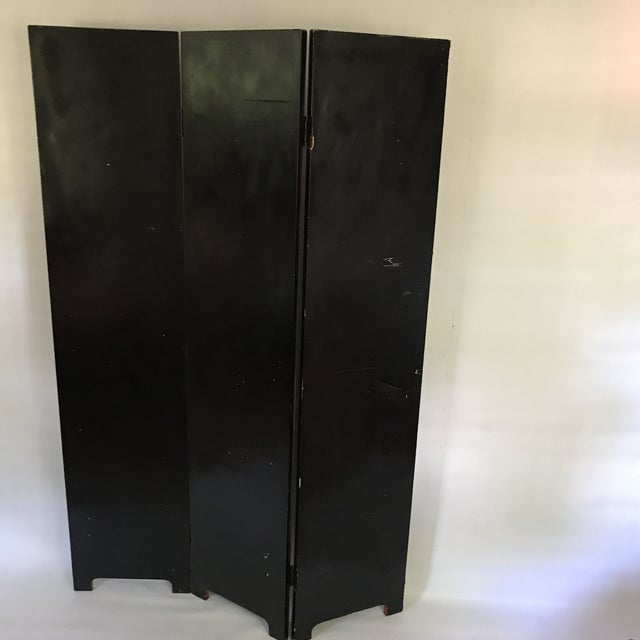 Red Hollywood Regency Red Lacquer Room Divider For Sale - Image 8 of 13