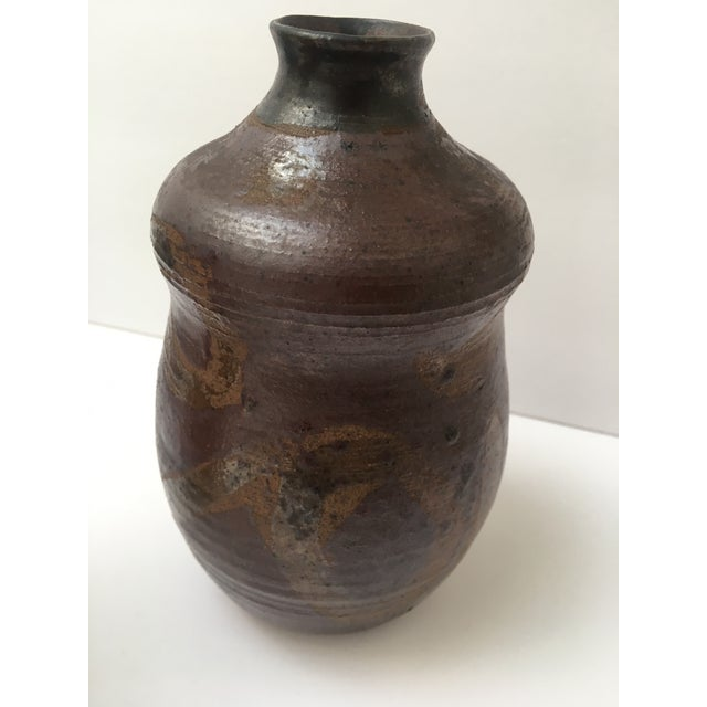 Mid-Century Modern Brown Glazed Vessel For Sale - Image 3 of 5