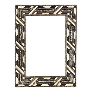 White & Brown Bone Casablanca Mirror For Sale