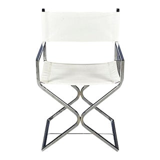 1960s Chrome & Leather Director Chair