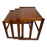 Image of 1960s Danish Modern Teak Nesting Tables - Set of 3 For Sale