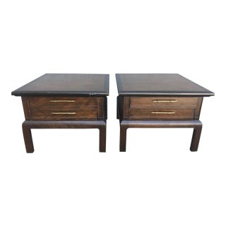 1960s Traditional Wooden Nightstands - a Pair For Sale