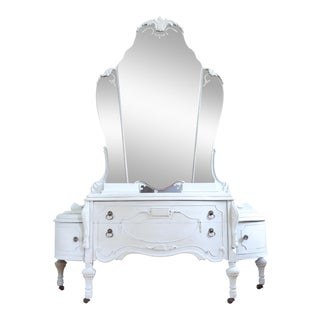 Antique Vanity With Mirror For Sale