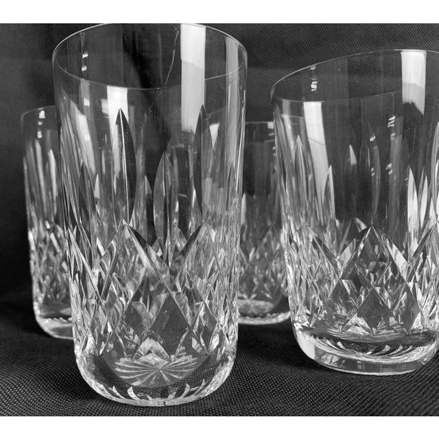 """Glass Waterford""""Lismore"""" Pattern Highball/Tumbler Glasses - Set of 4 For Sale - Image 7 of 11"""