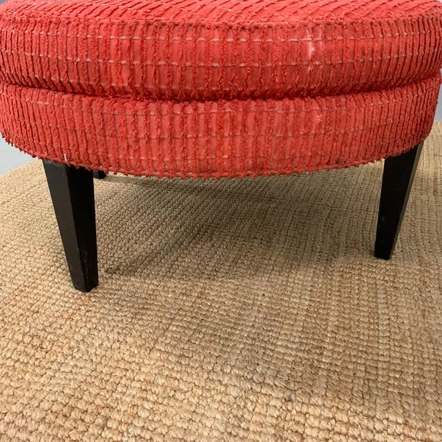 Lane Furniture Large Mid Century Ottoman, Signed For Sale - Image 4 of 8