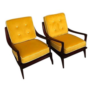 1960s Mid-Century Heywood Wakefield Pair Restored Arm Chairs For Sale