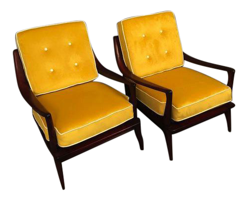 1960s Mid Century Heywood Wakefield Pair Restored Arm Chairs