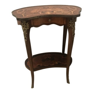 1960s Louis XV Inlaid 2-Tiered Side Table For Sale