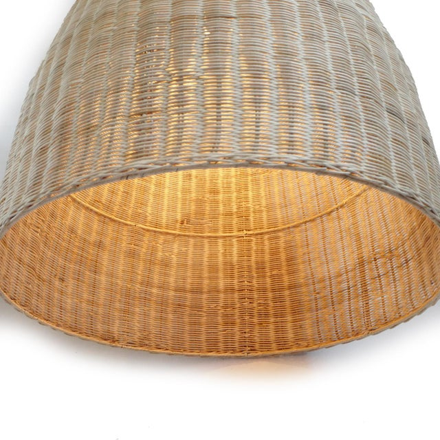Raw Wicker Pod Lantern Small For Sale - Image 4 of 5
