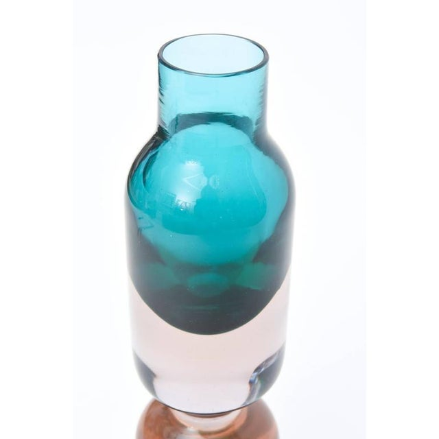 Italian Murano Sommerso Cenedese Glass Vessel or Vase For Sale - Image 10 of 10