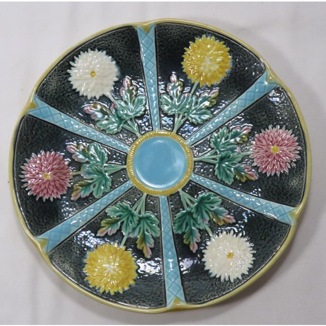Victorian Antique Wedgwood Majolica Serving Dish Circa 1870s For Sale - Image 3 of 13