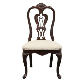 Late 20th Century Vintage Thomasville Mahogany Collection Side Chair For Sale
